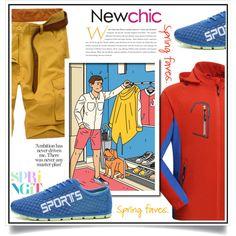Newchic - Spring IX/7 by ewa-naukowicz-wojcik on Polyvore featuring men's fashion and menswear