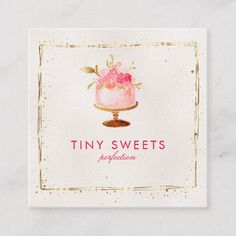 Shop ★ Beautiful Patisserie ,Bakery ,Cakes & Sweets Square Business Card created by laurapapers. Bakery Business Cards, Business Card Design, Cake Business, Baking Logo, Small Business Quotes, Cake Logo Design, Instagram Square, Craft Logo, Beauty Business Cards