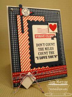 DIY - I Love You. So cute for boyfriends scrapbook!! ;)
