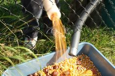 corn run with funnels and hoses - happy hooligans - fall play idea