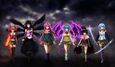 """Commissioned promotional cover art for fanfiction, """"Rosario Vampire: Brightest Darkness"""" It took a lot of my time and effort to complete this piece. It was quite a tough work, but fun in sooo..."""