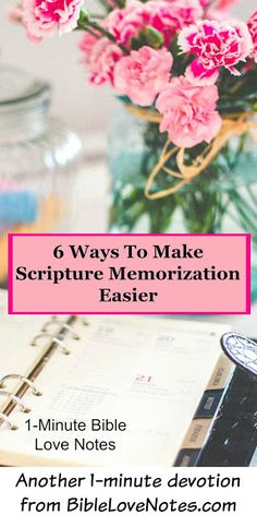 """Scripture memorization can have an incredible impact on our lives, but most folks find it difficult. This 1-minute devotion offers 6 ways that help memorization fit your learning style, your schedule, and your purposes. One of them is even called """"Painless Memorization"""" because it's so easy anyone can do it!"""