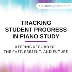 Tracking Progress of Piano Students