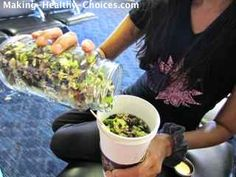 Raw and Vegan Instant Vegetable Soup Mix... such a great travel food. Here, I am mixing this up in the airport.