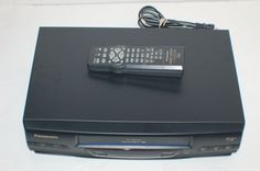 Panasonic PV-V4020 VHS VCR Plus Player Recorder Video 4 Head w/Remote TESTED!!!! #Panasonic #vcr #vhs #movies #vintage