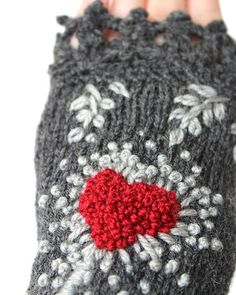 SMALL size Hand Knitted Fingerless Gloves by nbGlovesAndMittens