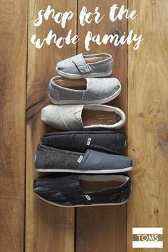 Get comfy this season with wool TOMS for mom, dad and the kids. The whole family will stay snug in these slip-ons lined in faux shearling.