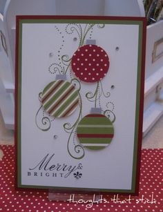 Stampin Up - May your holidays be wrapped in happiness and trimmed with the love of family and friends.