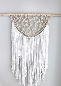 large macrame wall hanging tapestry boho wall decor yarn wall hanging by thoseindiemommies on etsy - Large Wall Hangings