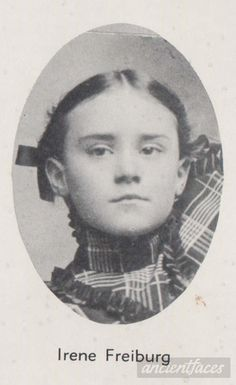 Irene Frieburg age 9 sadly perished from a fire in St. Francis Parochial school in Quincy, Illinois on December 22, 1899.