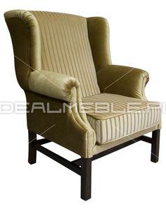 fotel Chesterfield, styl angielski, armchair, głęboko pikowany, plusz, velvet, brazowy brown,  w pasy, strips 143188b9a_fotel_karol.jpg (478×600)