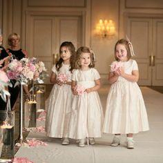 Blush Pink Flower Girl Dresses // L Photographie