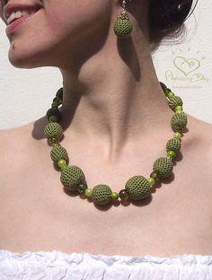 Summer+Crochet+for+Mom | ... crochet. Modern Summer Boho Necklace. Statement Necklace 2014 trend