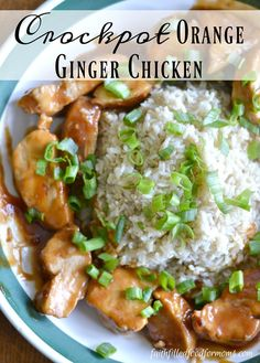 A super easy Crockpot dinner recipe. This Orange Ginger Slow Cooker Chicken is a family favorite. Made with Chicken Breast and just a few other ingredients, it's a cheap meal to make and great for busy days. Slow Cooker Recipes, Crockpot Recipes, Chicken Recipes, Recipe Chicken, Delicious Recipes, Chicken Meals, Boneless Chicken, Easy Recipes, Tasty