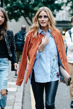 Olivia Palermo - Street style à la Fashion Week printemps-été 2017 de Londres - September 2016   Vogue