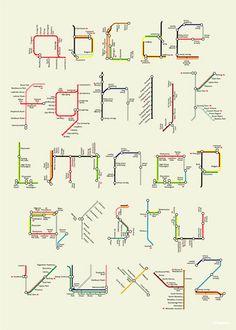 Underground alphabet