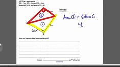 This video is a tutorial on Area of Triangles Questions. You should have already watched the Area of Triangles 1 Tutorial This video is for students atte. Maths Exam, Gcse Math, Aqa, Triangles, Student, This Or That Questions, College Students