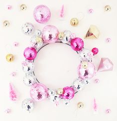 Add a little sparkle to your New Year's Eve party decor with this fun DIY Disco Ball Wreath.