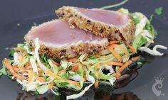 Receita de Atum em crosta de quinoa do Blog Pimenta no Reino.
