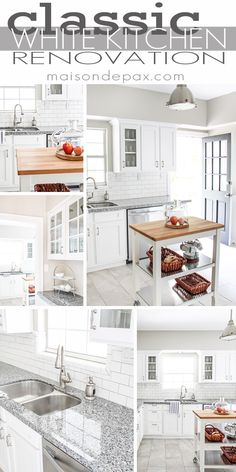 White Kitchen Renovation budgeting tips for a kitchen renovation | kitchens, house and porch