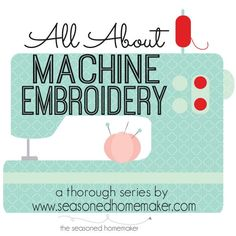 If you are thinking about getting a sewing machine that includes Machine Embroidery then you will want to read All About Machine Embroidery. | Popular Pins
