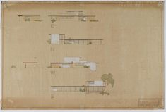 Unknown Date- Richard Neutra Architecture Concept Drawings, Richard Neutra, Purchase Contract, House Design, Modern, Villa, Mid Century, Pasta, Houses
