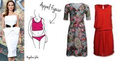 Heb je een appel-figuur? Draag dan jurkjes met een klein dessin of met plooien in de taille   http://www.dressesonly.nl/lichaamsvorm/appel.html   #appelfiguur #stylingtip