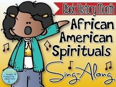 Black History Month is celebrated in the US and Canada in the month of February. During this month, I highlight many African American songs and spirituals in my music classes. This African American Spirituals Sing-Along will provide you with illustrated lyric slides that you can project for each song as well as sheet music that you can print (printer friendly) or project.
