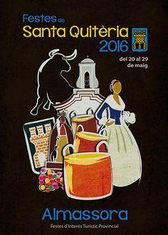 Propuesta cartel anunciador fiestas de Almassora 2016