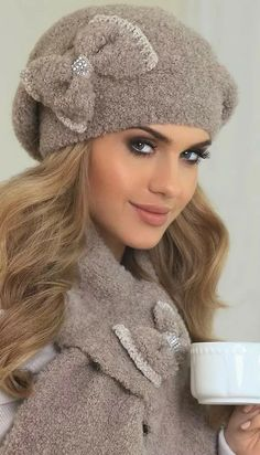 OtherEden - high quality lingerie and fashion from the best European brands. Knitted Hats, Crochet Hats, Big Butterfly, Quality Lingerie, Ear Warmers, Headdress, Wholesale Clothing, Hats For Women, Autumn Winter Fashion