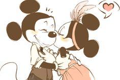 minnie + mickey = true love