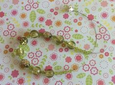 Olive Green Lampwork Bead Necklace £8.00