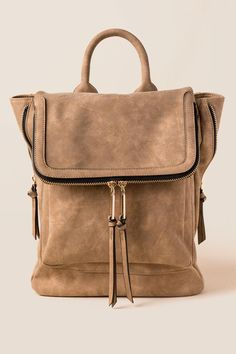 Francesca's Kendall Backpack-Taupe