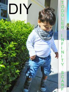 DIY | toddler infinity scarf