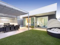 image from www.realestate.com.au  Outdoor living design with bbq area from a real Australian home