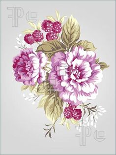 Illustration of Hand Drawing Peony Bouquet