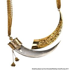 Incredible!  Kirpan necklace by Eina Ahluwalia