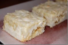 White chocolate brownies. Why have I never thought of this? White choc is my fave!