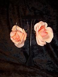 Just in time for SPRING!!  Yep.  These are what you see.  Pretty peach roses, but for your EARS.  Too lovely!