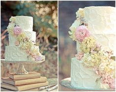 Rustic wedding cake by Sweet Bake Shop styled by www.dashofblonde.com