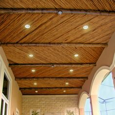 50 Breathtaking Rustic Ceiling Light Design and Ideas - Rockindeco Bamboo Roof, Bamboo Ceiling, Roof Ceiling, Bamboo Light, Bamboo House, Bamboo Wall, Ceiling Lights, Ceiling Lamp, Ceiling Ideas