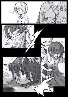 Kawaii Art, Kawaii Anime, Otaku Anime, Anime Guys, Naruto Painting, Little Nightmares Fanart, Sad Comics, Undertale Pictures, Mini Comic