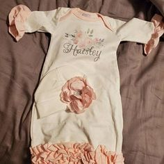 Newborn Girl Coming Home Outfit Newborn Girl Gown Go Home   Etsy Girls Coming Home Outfit, Take Home Outfit, Gifts For Newborn Girl, Baby Girl Newborn, Gowns For Girls, Pink Gowns, Ruffle Romper, Lace Headbands, Outfits