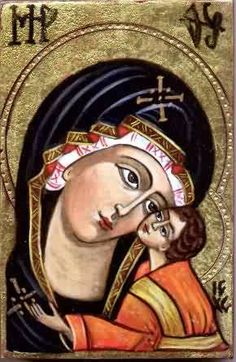 Virgin with child. Painter - Ivanka Kortzanova (Original old master's technology and materials). at www.kolumbus.fi