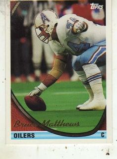 Bruce Matthews topps football 1985 card | Football Cards