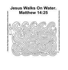 Jezus loopt op het water doolhof // Jesus walks on the water maze