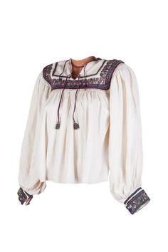 This fashion item is vintage and precious. It can also easily be worn nowadays within a modern outfit! Beautiful Blouses, Modern Outfits, Fashion Vintage, Romania, Colorful, Embroidery, Unique, Happy, Handmade