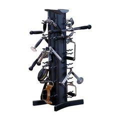 The Body Solid VDRA30 Fitness Accessory Rack is a great way to keep your home and commercial gym cable attachments organized and out of the way.