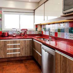 6 Creative Home Design Ideas Rustic Kitchen, Kitchen Design, House Design, Red Kitchen, Kitchen Cabinet Styles, Kitchen Furniture, Kitchen, Country Style Kitchen, Kitchen Interior