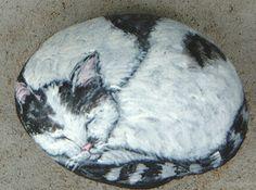 domestic cat rock art